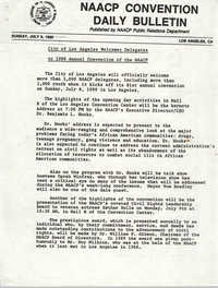 NAACP Convention Daily Bulletin, July 8, 1990