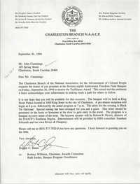 Letter from Dwight C. James to John Cummings, September 20, 1994