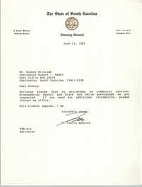 Letter from T. Travis Medlock to Rodney Williams, June 12, 1992