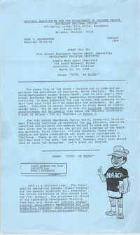 NAACP Southeast Regional Office Newsletter, January 1988