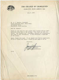 Letter from Jerry Spencer to Isaiah Bennett, July 5, 1979