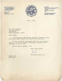 Letter from William W. Doar, Jr. to Isaiah Bennett, May 1, 1979