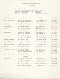 Committee on Administration, Coming Street YWCA, 1964 to 1965