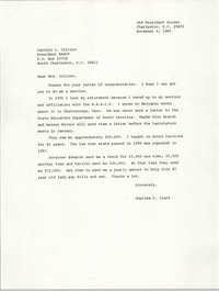 Letter from Septima P. Clark to Carolyn L. Collins, November 6, 1985
