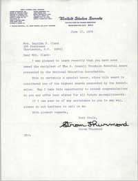 Letter from Strom Thurmond to Septima P. Clark, June 17, 1976