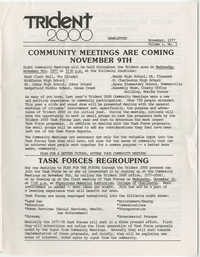 Trident 2000 Newsletter, November 1977, Volume 1, No. 1
