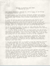 Minutes of the Trident Education Task Force, February 15, 1978