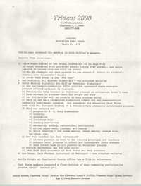Minutes of the Trident Education Task Force, March 8, 1978