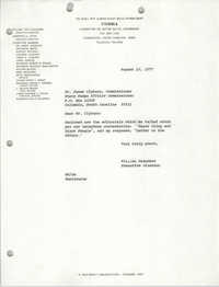 Letter from William Saunders to James Clyburn, August 10, 1977