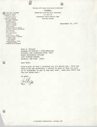 Letter from William Saunders to Mary A. Twining, September 30, 1977
