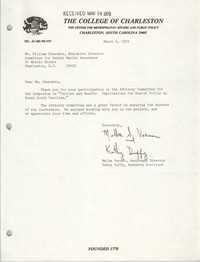 Letter from Melba Varner and Kathy Duffy to William Saunders, March 6, 1979