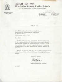 Letter from Alton C. Crews to William Saunders, June 8, 1977