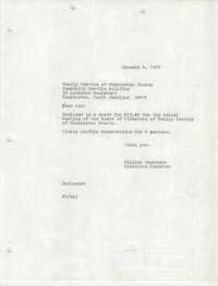 Letter from William Saunders to Christine O. Jackson, January 4, 1977