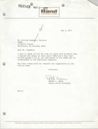 Letter from Robert L. Crain to William Saunders, May 5, 1977