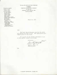 Letter from David J. Mack, III, March 20, 1979