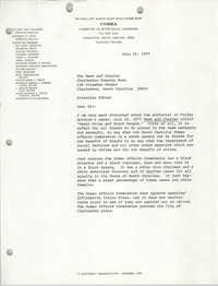Letter from William Saunders to the News and Courier and Charleston Evening Post, July 22, 1977