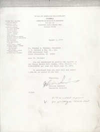 Letter from William Saunders to Charles L. Trotter, August 1, 1978