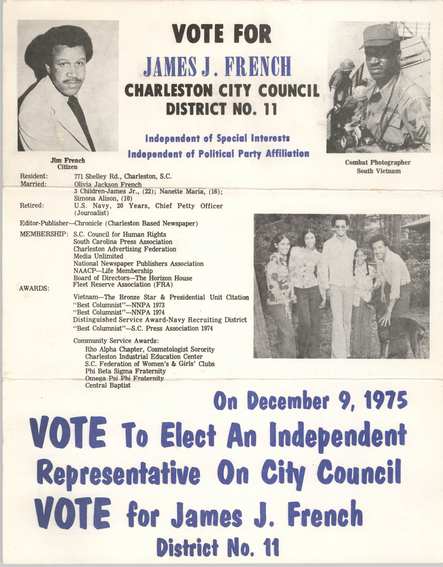 James J. French, Campaign Materials