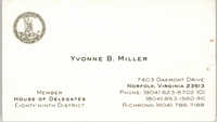Yvonne B. Miller Business Card