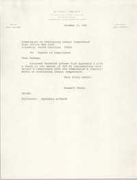 Letter from Russell Brown to the Commission on Continuing Lawyer Competence, December 13, 1982