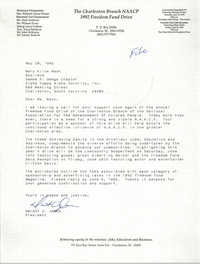 Letter from Dwight C. James to Mary Alice Mack, May 20, 1992