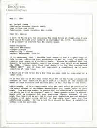 Letter from John Orr to Dwight James, May 11, 1990