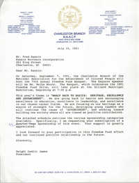 Letter from Dwight Cedric James to Fred Kassis, July 15, 1991
