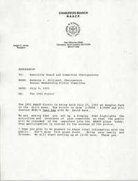 Memorandum, Rebecca J. Gilliard, July 5, 1991
