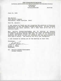 Letter from Dwight C. James to Bob Harrell, June 15, 1990