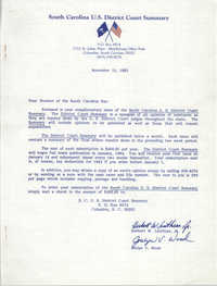 South Carolina U.S. District Court Summary, Herbert W. Louthian Jr. and Joslyn V. Wood, November 15, 1983