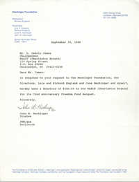 Letter from John W. Hechinger to D. Cedric James, September 30, 1988
