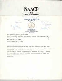 Memorandum, Dorothy Jenkins, October 5, 1988