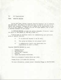 Memorandum, Creative Designs