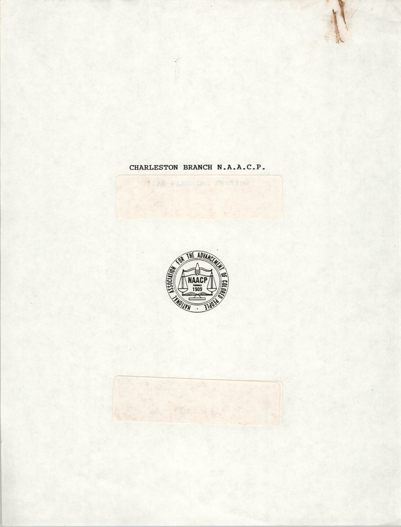 Pamphlet, Charleston Branch of the NAACP