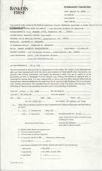 Bankers First Federal Savings & Loan Association, Loan Filing, March 5, 1986