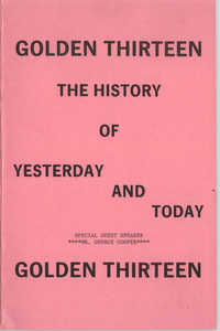 Booklet, Golden Thirteen: The History of Yesterday and Today