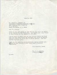Letter from Christine O. Jackson to Willard W. Siebart, Jr., June 21, 1968