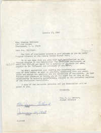 Letter from Christine O. Jackson to Mrs. Charles Gilliard, January 17, 1968