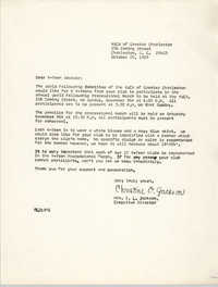 Letter from Christine O. Jackson to Y-Teen Advisors, October 25, 1969