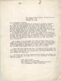 Letter from Daisy Frost, Paulie E. Brown, M. L. Harrington to Coming Street Y.W.C.A., January 16, 1941