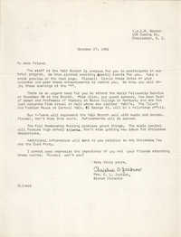 Letter from Christine O. Jackson to Arthur Jackson, October 27, 1966