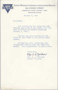 Letter from Christine O. Jackson to Arthur Jackson, January 9, 1967