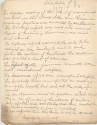 Minutes to the Board of Management, Coming Street Y.W.C.A., July 13, 1926
