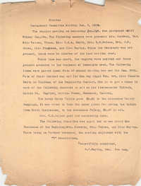 Minutes to the Board of Management Meeting, Coming Street Y.W.C.A., January 5, 1923