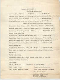 Management Committee for June 1923, Coming Street Y.W.C.A.