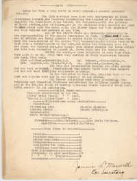 Monthly Report for the Coming Street Y.W.C.A., April 1926