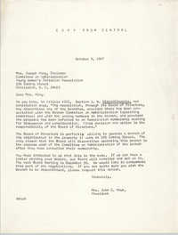 Letter from Mrs. John C. Hawk to Mrs. Joseph King, October 9, 1967