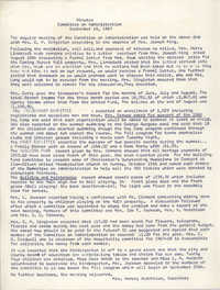 Minutes to the Committee on Administration, Coming Street Y.W.C.A., September 18, 1967