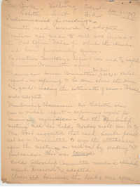 Minutes to the Board of Management, Coming Street Y.W.C.A., December 6, 1927