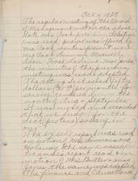 Minutes to the Board of Management, Coming Street Y.W.C.A., October 4, 1927
